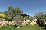 Israel, Jerusalem Mountains. Ein Tzuba (Tzuba spring) at the foothill of Mount Tzuba