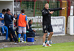 Glentoran v St Johnstone…. 09.07.16  The Oval, Belfast  Pre-Season Friendly<br />Former saintee now Glentoran Manager Alan Kernghan shouts instructions to his team<br />Picture by Graeme Hart.<br />Copyright Perthshire Picture Agency<br />Tel: 01738 623350  Mobile: 07990 594431