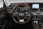 Car pictures of steering wheel view of a 2017 Lexus ES 350 4 Door Sedan 2WD Steering Wheel