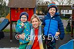 Enjoying the playground in Listowel town park on Thursday, l to r: Seánaí, Bébhinn and Thady Quirke.