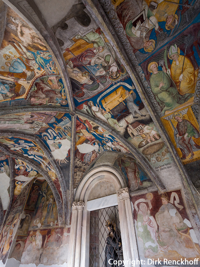 Fresken im Kreuzgang in Brixen, Region Südtirol-Bozen, Italien, Europa<br /> Frescoes, cloister in Brixen, Region South Tyrol-Bolzano, Italy, Europe