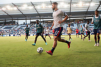 KANSAS CITY, KS - JULY 15: Sebastian Lletget #17 of the United States warming up before a game between Martinique and USMNT at Children's Mercy Park on July 15, 2021 in Kansas City, Kansas.