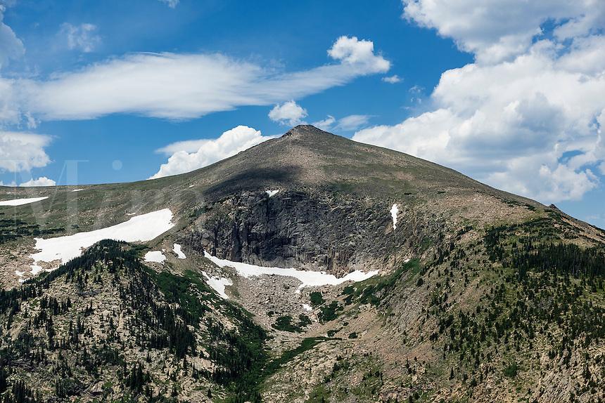 Mountain peak in Rocky Mountain National Park, Colorado, USA