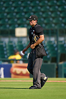 Umpire Joe McCarthy during a game between the Daytona Tortugas and Bradenton Marauders on June 9, 2021 at LECOM Park in Bradenton, Florida.  (Mike Janes/Four Seam Images)