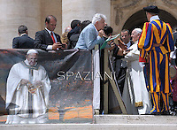 Pope Francis during his weekly general audience in St. Peter square at the Vatican, Wednesday.May 28, 2014.