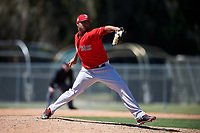 Boston Red Sox pitcher Jeffry Fernandez (89) during a minor league Spring Training game against the Baltimore Orioles on March 16, 2017 at the Buck O'Neil Baseball Complex in Sarasota, Florida. (Mike Janes/Four Seam Images)