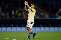 Lorenzo Insigne of SSC Napoli waves the fans <br /> Napoli 25-02-2020 Stadio San Paolo <br /> Football Champions League 2019/2020 - Round 16, 1st leg<br /> SSC Napoli - FC Barcelona<br /> Photo Antonietta Baldassarre / Insidefoto