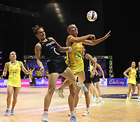Claire Kersten in action during the Constellation Cup international netball series match between New Zealand Silver Ferns and Australian Diamonds at Christchurch Arena in Christchurch, New Zealand on Tuesday, 2 March 2021. Photo: Martin Hunter / lintottphoto.co.nz