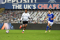 Jamal Lowe of Swansea City in action during the Sky Bet Championship match between Swansea City and Cardiff City at the Liberty Stadium in Swansea, Wales, UK. Saturday 20 March 2021