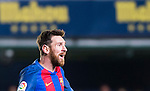Lionel Andres Messi of FC Barcelona reacts during their La Liga match between Villarreal and FC Barcelona at the Estadio de la Cerámica on 08 January 2017 in Villarreal, Spain. Photo by Maria Jose Segovia Carmona / Power Sport Images
