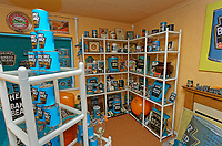 Pictured: Part of the exhibition. Sunday 27 January 2019<br /> Re: 10 year anniversary of the Baked Bean Museum of Excellence, owned by Captain Beany (real name Barry Kirk) in a Council flat in Port Talbot, south Wales, UK.