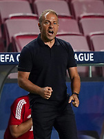 23rd August 2020, Estádio da Luz, Lison, Portugal; UEFA Champions League final, Paris St Germain versus Bayern Munich;  Trainer Hansi Flick (Munich) celebratea their goal for 1-0 from Colman