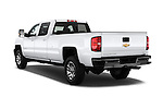 Car pictures of rear three quarter view of 2016 Chevrolet Silverado-3500HD LT-Crew-SRW 4 Door Pickup Angular Rear