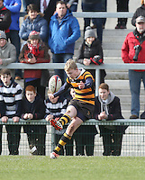 MEDALLION SHILED FINAL   Monday 10th March 2015<br /> <br /> Match action between Wallace HS and RBAI during the 2015 Ulster Schools Medallion Shield Final at the Kingspan Stadium, Ravenhill Park, Belfast.<br /> <br /> Picture credit: John Dickson / DICKSONDIGITAL