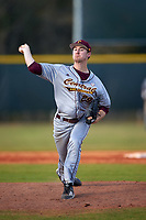 Central Michigan Chippewas relief pitcher Connor Kelly (29) delivers a pitch during a game against the Boston College Eagles on March 8, 2016 at North Charlotte Regional Park in Port Charlotte, Florida.  Boston College defeated Central Michigan 9-3.  (Mike Janes/Four Seam Images)