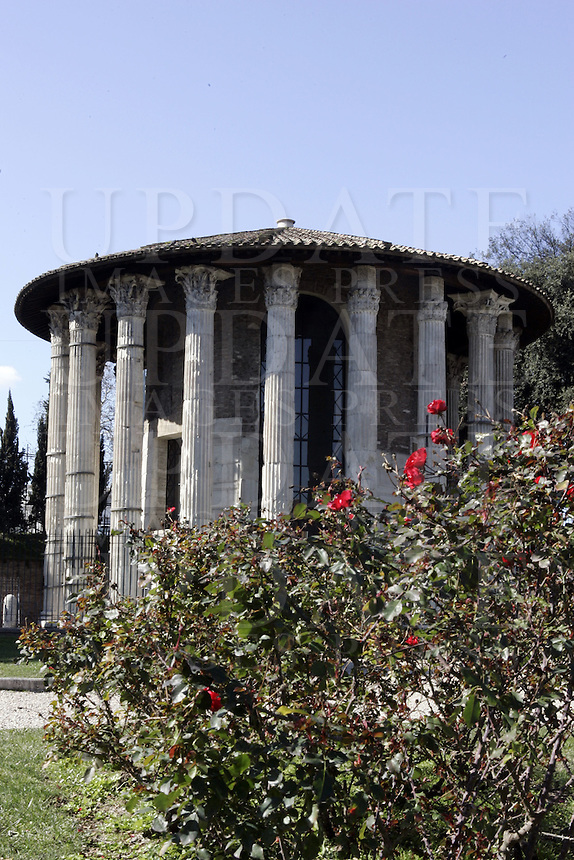 Il Tempio di Ercole Vincitore a Roma.<br /> The Temple of Hercules Victor, in Rome.<br /> UPDATE IMAGES PRESS/Riccardo De Luca