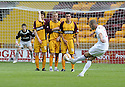 16/08/2008  Copyright Pic: James Stewart.File Name : sct_jspa09_motherwell_v_aberdeen.CHARLIE MULGREW KNOCKS THE BALL OVER THE MOTHERWELL DEFENCE TO SCORE ABERDEEN'S GOAL....James Stewart Photo Agency 19 Carronlea Drive, Falkirk. FK2 8DN      Vat Reg No. 607 6932 25.Studio      : +44 (0)1324 611191 .Mobile      : +44 (0)7721 416997.E-mail  :  jim@jspa.co.uk.If you require further information then contact Jim Stewart on any of the numbers above........