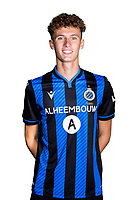 20th August 2020, Brugge, Belgium;  Jules Van Bost pictured during the team photo shoot of Club Brugge NXT prior the Proximus league football season 2020 - 2021 at the Belfius Base camp