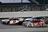 #11: Denny Hamlin, Joe Gibbs Racing, FedEx Office Toyota Camry and #12: Ryan Blaney, Team Penske, DEX Imaging Ford Mustang