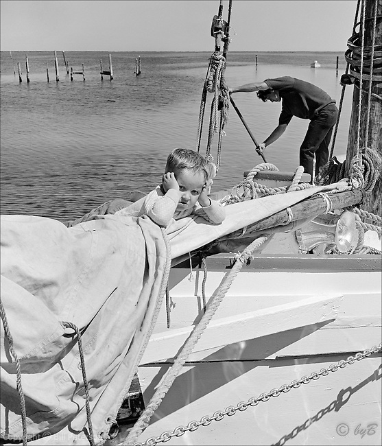"""After the race and getting ship shape. Fine Art, Limited Edition Skipjack print from the """"Skipjack Sunday"""" collection."""