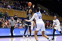 DURHAM, NC - JANUARY 26: Jasmine Carson #2 of Georgia Tech shoots the ball during a game between Georgia Tech and Duke at Cameron Indoor Stadium on January 26, 2020 in Durham, North Carolina.