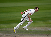 28th May 2021; Emirates Old Trafford, Manchester, Lancashire, England; County Championship Cricket, Lancashire versus Yorkshire, Day 2; Yorkshire bowler George Hill