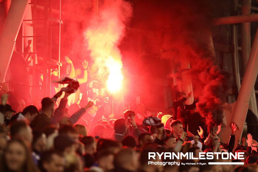 Dundalk fans during the Irish Daily Mail FAI Cup Final between Dundalk and Cork City, on Sunday 4th November 2018, at the Aviva Stadium, Dublin. Mandatory Credit: Michael P Ryan.
