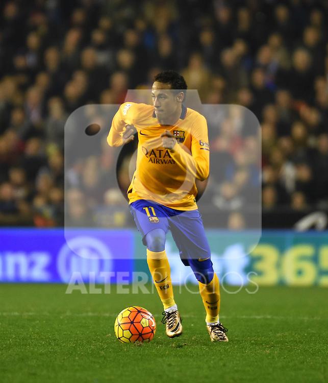 FC Barcelona's Neymar during La Liga match. December 5, 2015. (ALTERPHOTOS/Javier Comos)