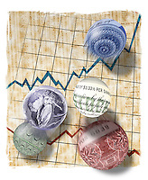 Financial markets concept