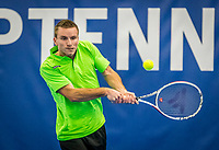 Amstelveen, Netherlands, 17  December, 2020, National Tennis Center, NTC, NK Indoor, National  Indoor Tennis Championships,   : Alban Meuffels (NED) <br /> Photo: Henk Koster/tennisimages.com
