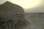 Marsh Arabs. Southern Iraq.  Marsh Arab adobe home banks of river Tigris. 1984