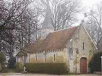 The 11th century chapel on the property includes a steeple of chestnut wood shingles