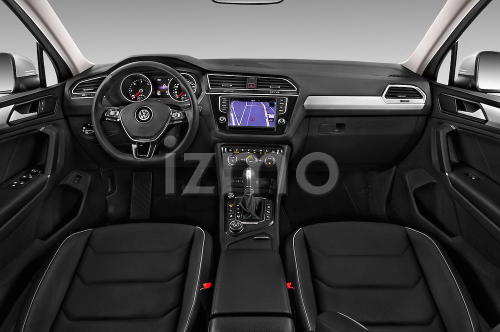 Stock photo of straight dashboard view of 2017 Volkswagen Tiguan Comfortline 5 Door Suv Dashboard