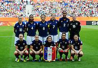 Fifa Women's World Cup Germany 2011 : Zweden - France Frankrijk at Sinsheim World Cup stadium : ploegfoto France.foto DAVID CATRY / Vrouwenteam.be