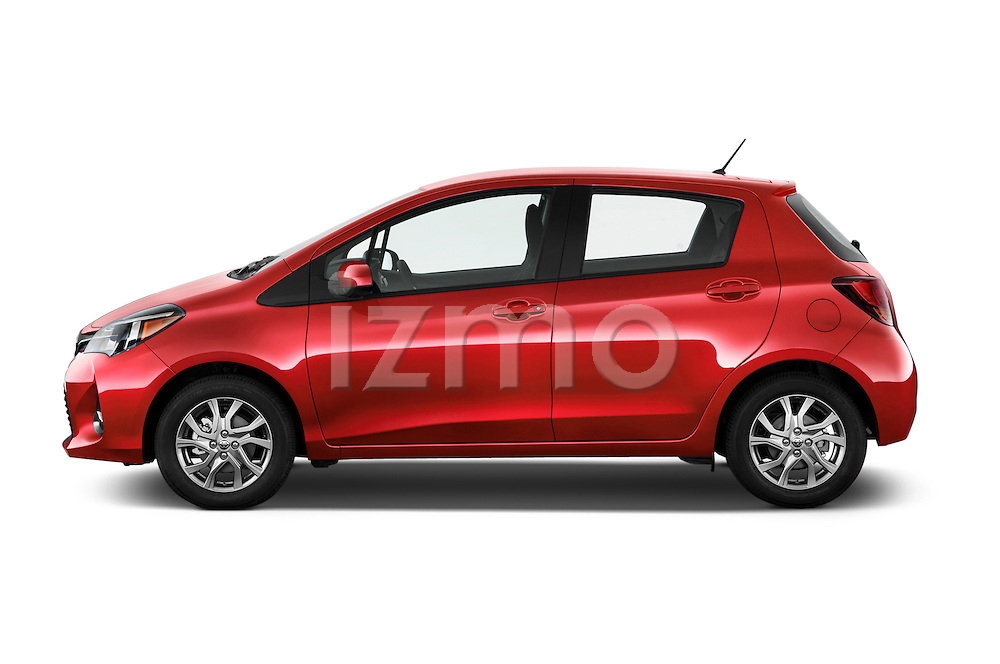 Car Driver side profile view of a 2015 Toyota Yaris SE 5-Door Liftback AT 5 Door Hatchback Side View
