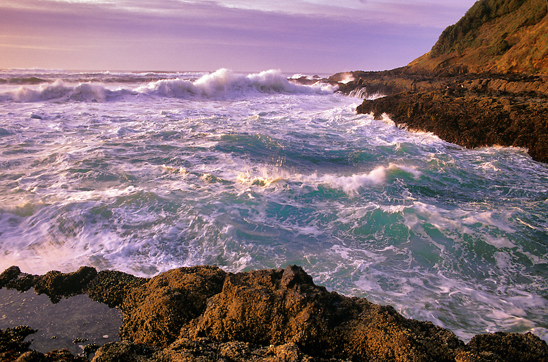 Waves off Cape Perpetua, Oregon.