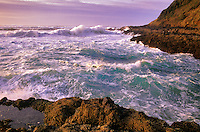 Waves off Cape Perpetua, Oregon.