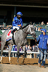 April 03, 2021:  #4 Essential Quality and jockey Luis Saez win the 97th running of the Toyota Blue Grass Grade2 $800,000 for owner Godolphin and trainer Brad Cox at Keeneland Racecourse in Lexington, KY on April 03, 2021.  Candice Chavez/ESW/CSM