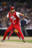 Ormari Romero of the Cuban national team during championship game against Japan during the World Baseball Championships at Petco Park in San Diego,California on March 20, 2006. Photo by Larry Goren/Four Seam Images