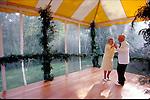 elderly couple dancing at wedding