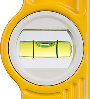 detail of a spirit level against a white background