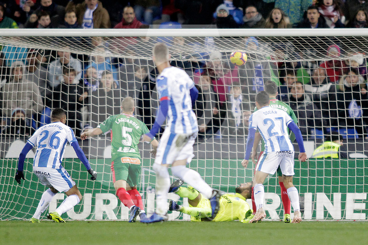 CD Leganes' Youssef En-Nesyri scores goal during La Liga match. November 23,2018. (ALTERPHOTOS/Alconada)