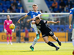 St Johnstone v Dundee…25.08.18…   McDiarmid Park     SPFL<br />Jason Kerr and Ben Kallman<br />Picture by Graeme Hart. <br />Copyright Perthshire Picture Agency<br />Tel: 01738 623350  Mobile: 07990 594431