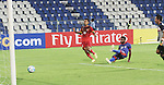 Bangalore: AFC CUP.. Match between JSW Bengaluru FC and Ayeyawady United (MYA) on 13th April 2016.<br />Vineeth of Bengaluri FC scoring the first goal.