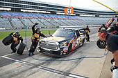 NASCAR Camping World Truck Series<br /> winstaronlinegaming.com 400<br /> Texas Motor Speedway, Ft. Worth, TX USA<br /> Friday 9 June 2017<br /> Myatt Snider, Louisiana Hot Sauce Toyota Tundra, makes a pit stop<br /> World Copyright: John K Harrelson<br /> LAT Images<br /> ref: Digital Image 17TEX2jh_01684