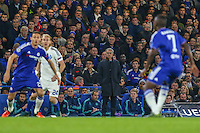 Jose Mourinho (Manager) of Chelsea (centre) looks on during the UEFA Champions League Group match between Chelsea and Dynamo Kyiv at Stamford Bridge, London, England on 4 November 2015. Photo by David Horn.