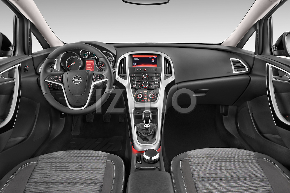 Stock photo of straight dashboard view of a 2015 Opel ASTRA Enjoy 5 Door Wagon 2WD Dashboard