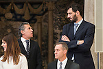 Sergio Scariolo and Jorge Garbajosa attends to the National Sports Awards 2015 at El Pardo Palace in Madrid, Spain. January 23, 2017. (ALTERPHOTOS/BorjaB.Hojas)