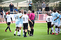 6th September 2020, Poissy,Paris, France; Football Friendly, Varietes Club de France versus Chi PSG;  Players shake hands at the match final whistle