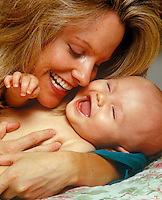 Mother with infant son.<br />
